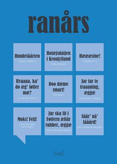 Ranårs Poster from Dialægt Aarhus, Cool Picture Frames, Language, Thoughts, Humor, Learning, Sayings, Memes, Funny