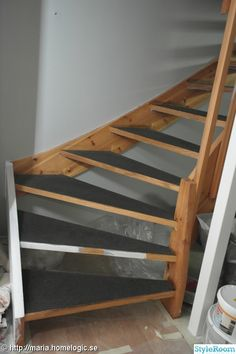 Renovering av trappen - Hemma hos mariiiiiia Stairs, Diy, Home Decor, Ladders, Homemade Home Decor, Bricolage, Stairway, Staircases, Do It Yourself