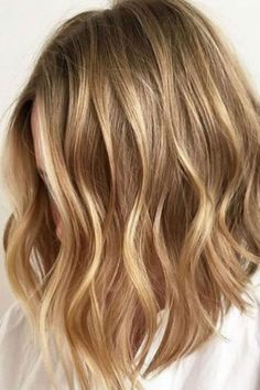 36 Blonde Balayage with Caramel, Honey, Copper Highlights