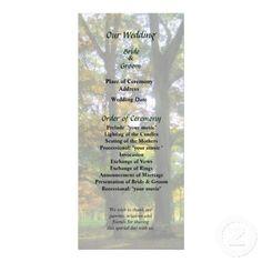 Hint of Autumn Wedding Program by Susan Savad -- Autumn wedding program that you can customized yourself.  #wedding  #weddingprogram #weddingprograms #gettingmarried #customize #autumn #fall #green   $0.65  per card   BULK PRICING AVAILABLE!