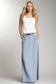 tencel twill maxi skirt by splendid.