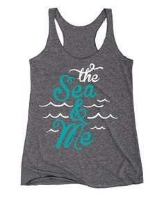 Look at this #zulilyfind! Athletic Heather 'The Sea and Me' Racerback Tank by Board Life #zulilyfinds