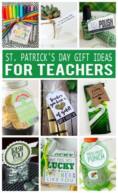 Patrick's Day Gifts For Teachers Patricks day diy gifts St. Patrick's Day Gifts For Teachers - St Paddys Day, St Patricks Day, St Pattys, Saint Patricks, Teacher Appreciation Gifts, Teacher Gifts, Daycare Gifts, Preschool Gifts, Staff Gifts