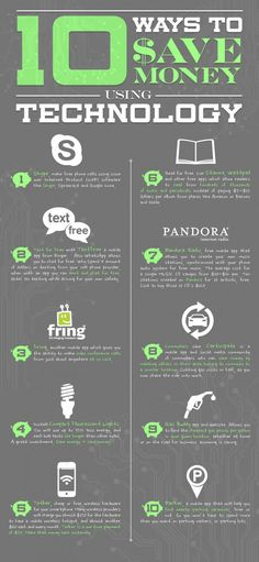10 Ways to save money using technology #infographic #moneysmart