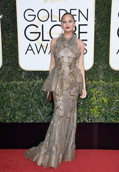 Chrissy Teigen in Marchesa - Every Best Dressed Look from the 2017 Golden Globes - Photos