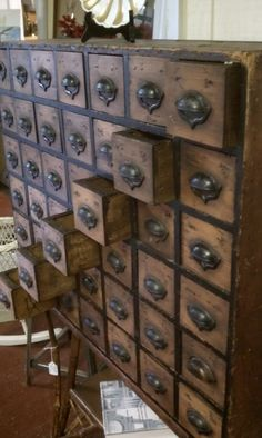 Antique 42 Drawer Chest by BuyJCsStuff on Etsy... love this chest