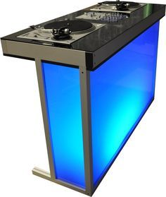 DJ Booths & DJ Stand custom made in all sizes and finishes Cabine Do Dj, Dj Dj Dj, Dj Stand, Dj Table, Dj Setup, Dj Gear, Digital Dj, Dj Booth, Dj Equipment