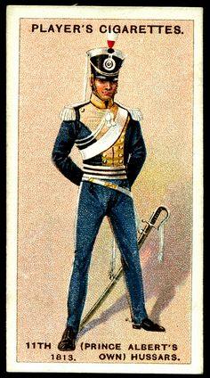 Cigarette Card - 11th Hussars, 1813