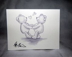 Teddy Bears note cards and art