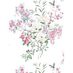 Buy Sanderson Waterperry Magnolia Wallpaper 216305, Panel A Online at johnlewis.com