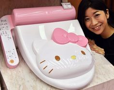 Hello Kitty High-Tech Heated Toilet Seat Will Warm Your Heart  ... see more at InventorSpot.com