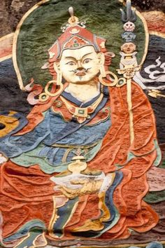 Buddhist art in Bhutan.