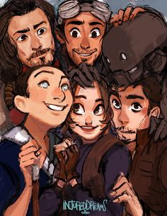 "injureddreams: "" Group Shot! I love drawing these guys a lot ♥ I cant wait to own the BluRay when it comes out ♥ 3♥ """