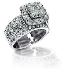 2.2 Ct Stunning Zirconia Solid 925 Sterling Silver Halo Wedding Ring Elegant