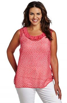 http://www.delightfullycurvy.com/different-styles-plus-size-tank-tops/  Plus size women's tank top in different shades of red.