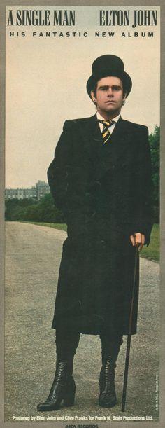 "Elton John - Advertising fot the LP ""A single man"" - 1979"