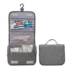 b9fb6645ec2 gray hanging travel toiletry bag Travel Toiletries