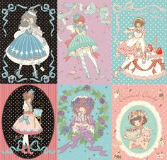Imai Kira cute sweet lolita art for Japanese designer Angelic Pretty.