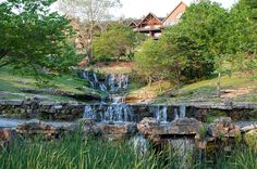 Cascades by a lodge in Branson, Missouri