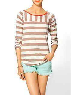 Hive & Honey Striped Knit Tee   Piperlime