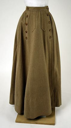 Cycling ensemble Date: ca. 1900 Culture: American Medium: wool, linen Dimensions: (a) Length at CB: 37 1/2 in. (95.3 cm) (b) Length (side front): 33 in. (83.8 cm)