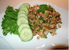 Amporn's Thai Kitchen: Thai Spicy ground Fish with toasted rice ( 2nd )
