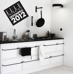 love this kitchen #black #white