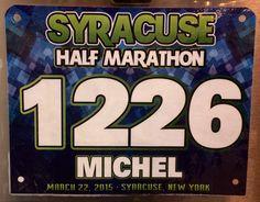 8th Half Marathon - SYRACUSE HALF.   March 22, 2015.  Syracuse, NY.  Time 2:40:22hrs (12:15). Running Bibs, Marathon, March, Marathons, Mac