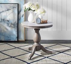 Updating your living room? Shop Pottery Barn for modern and classic living room ideas. Find living room furniture and decor and create the ultimate space. Marble Desk, Marble End Tables, Pedestal Dining Table, Console Table, Pedastal Table, Marble Furniture, Drum Table, Marble Top, Painted Furniture