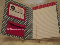 Jane used empty Stampin' Up! stamp cases to make these cute & handy notepad holders.