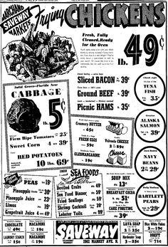 Vintage Marchand Saveway Market Ad Vimco Spaghetti and Macaroni Repository, Canton, OH, February 26, 1953, pg 33 Viviano Macaroni Co, Carnegie, PA
