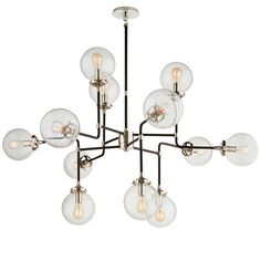 """Same light? it's 29""""H x 47""""W which will work, we can ask about lead time.   $1890 Mid-Century Parlor Chandelier"""