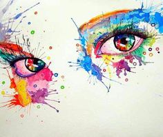 رسم عيون بطريقة رائعة