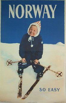 vintage ski poster 1950