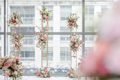 Stephanie and Teddy's gorgeous wedding captured by AGI Studio is a perfect blend of delicate and refined details with a dash of modern flair! Magical Wedding, Chic Wedding, Wedding Ceremony, Bridal Decorations, Table Decorations, Four Seasons Hotel, Dance The Night Away, City Chic, Davids Bridal