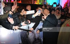 Tom Hardy attends UK Premiere of 'The Revenant' at Empire Leicester Square on January 14, 2016 in London, England.