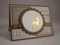 SU Dasher, gold and iridescent ice embossed. What a GORGEOUS card—LV!