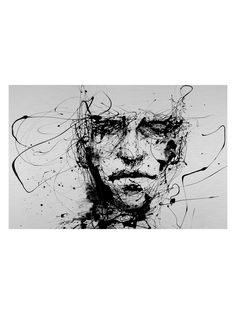Lines Hold The Memories by Agnes Cecile (Framed) from Aluminum on Gilt