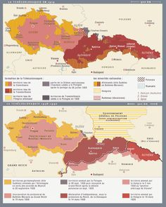 Czechoslovakia: The ethnic composition in 1919 versus the Munich Agreement and the Vienna Award of 1938.