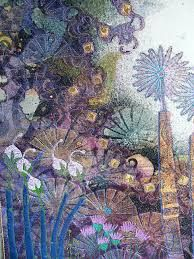 Angie Hughes- Five and Flight Art Fibres Textiles, Textile Fiber Art, Textile Artists, Thread Art, Thread Painting, Free Motion Embroidery, Embroidery Art, Art Fil, Creative Textiles
