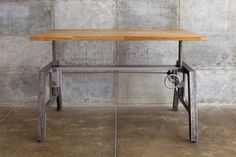 Mash Studios adjustable height industrial table