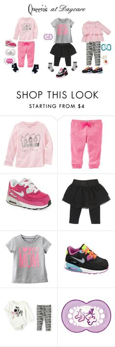 """Queens @ Daycare"" by caaaazz ❤ liked on Polyvore featuring NIKE, Carter's, Gymboree, BabyGirl, queens and BabyGirlfashion"
