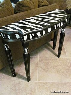 Wonderful Lucy Designs: Zebra Table Before And After Photo Gallery