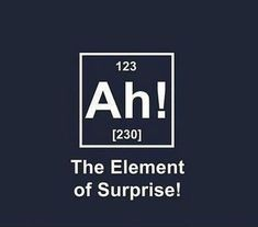 Imagen de ah, funny, science, element and surprise