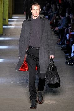 Rag & Bone Fall 2012 Menswear. You've got to dig a vibrant silk lined coat.