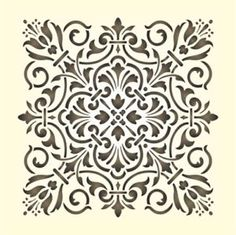 Maler Wandschablone Schablone Historisches Ornament 13 Damask Stencil, Stencils, Soft Tiles, Birthday Calender, Frosted Glass Design, Fairy Silhouette, Laser Cut Patterns, Painted Ornaments, Mandala Coloring Pages