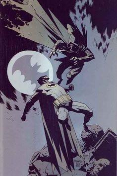 Batman vs Ragman by Mike Mignola