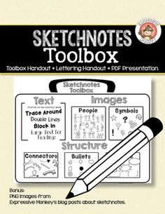 "Help your students retain new information better by taking sketchnotes"".  Both the visual cues and the structure of the sketchnotes page they make, will help them to understand and retain the new information. Additionally, the process of turning information into a sketchnotes page, also helps students remember what theyve learned."
