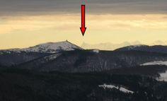 Cervin - Matterhorn or Finsterharrhorn ? A picture taken in Winter , as hiking on the Vosges Crests .