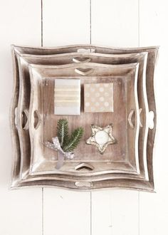 Dallies Chic Interiors stockist of Grand Illusions Vintage Paint selling beautiful home accessories and shabby chic furniture Square Tray, Tea Tray, Upcycled Furniture, How To Look Pretty, A Table, Shabby Chic, Carving, Rustic, Wooden Trays